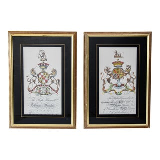 English Coat of Arms Prints, Pair