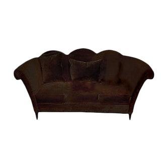 Deep Espresso Velvet Donghia Style Sofa