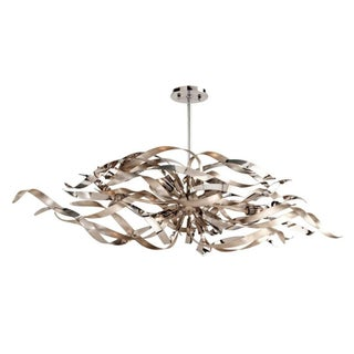 Silver Corbett Lighting Graffiti Linear Chandelier