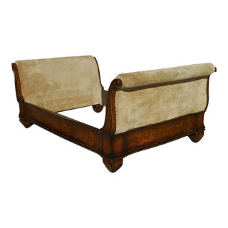 A. Rudin Upholstered Full Size Sleigh Bed