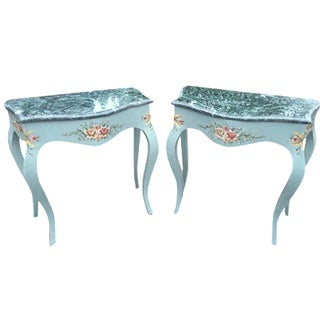 French Louis XVI Style Side Tables - A Pair