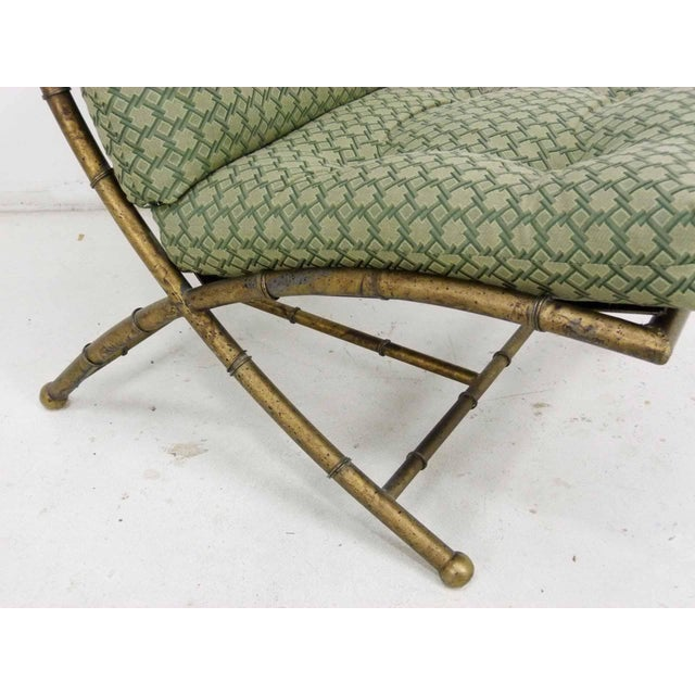 Italian-Style Faux Bamboo Lounge Chair & Ottoman - Image 8 of 9