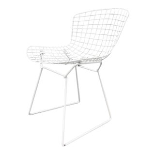 Harry Bertoia Knoll White Dining Chairs - Set of 4
