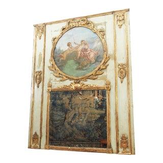 Period Louis XVI Polychrome Trumeau Mirror