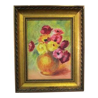 Vintage Floral Still Life Painting