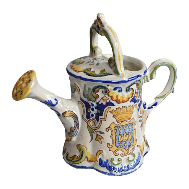 French Handpainted Watering Can - Image 1 of 5