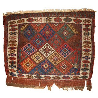 1880s Antique Persian Kurdish Bag Face - 1′10″ × 2′3″