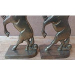 Image of Vintage Brass Unicorn Bookends - Pair