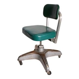 Vintage Industrial Swivel Office Chair by Cole Steel