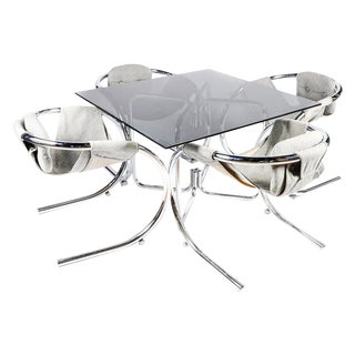 Sculptural Byron Botker Chrome Dining Set