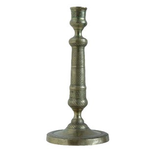 French Empire Bronze Candlestick