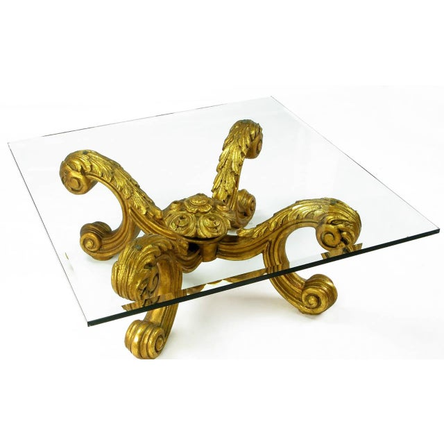 Hand-Carved and Gilt Spanish Rococo Coffee Table - Image 3 of 7