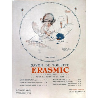 """1920 Mabel Lucie Attell Le Sourire """"Erasmic"""" Print"""