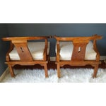 Image of James Mont Style Chairs - A Pair