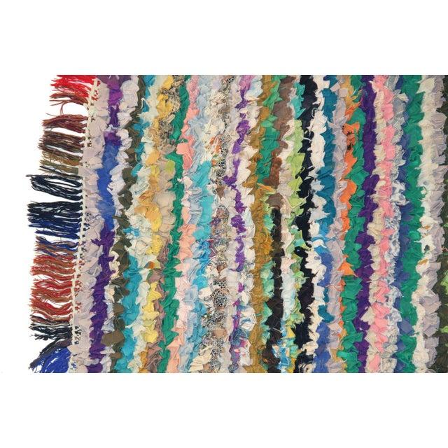 Vintage Boucherouite Rag Rug - 2′8″ × 6′ - Image 2 of 3