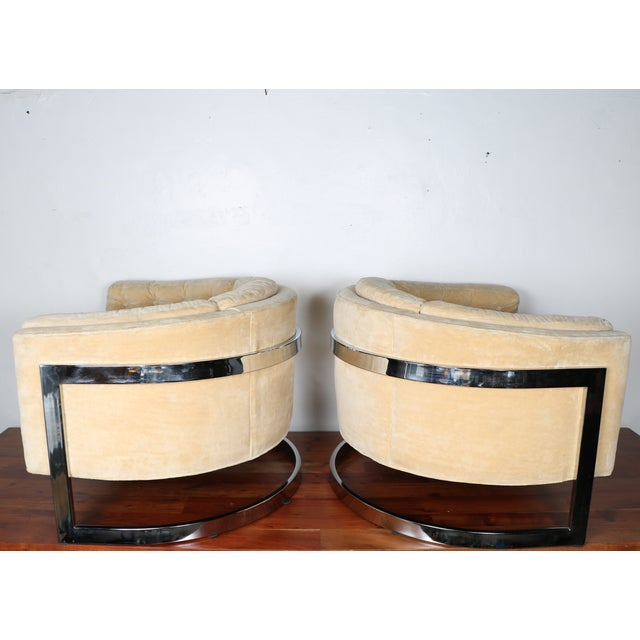 Milo Baughman Style Club Chairs - A Pair - Image 6 of 10