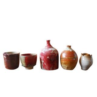 Assembled Diminutive Glazed Pottery - Set of 5