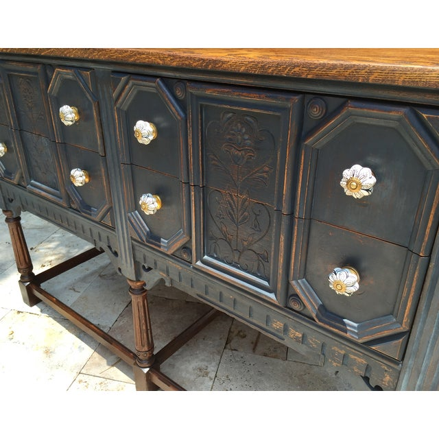 Vintage Jacobean Style Sideboard - Image 3 of 9