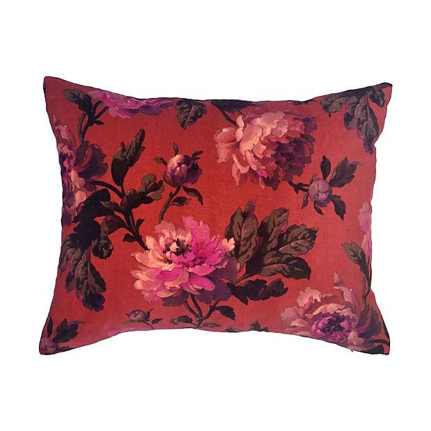 House of Hackney Floral Velvet Pillows - A Pair - Image 3 of 4