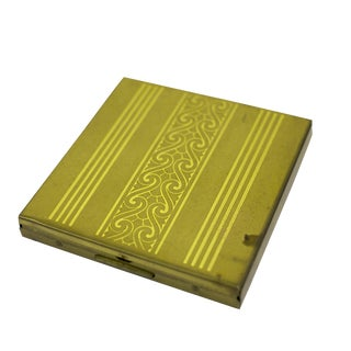 Art Deco Brass Cigarette Case