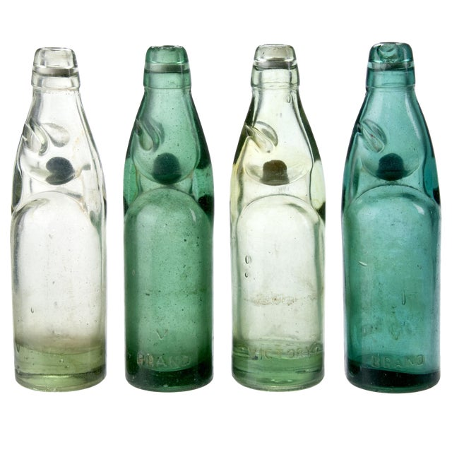 Vintage Street Vendor Soda Bottles - Set of 4 - Image 1 of 2
