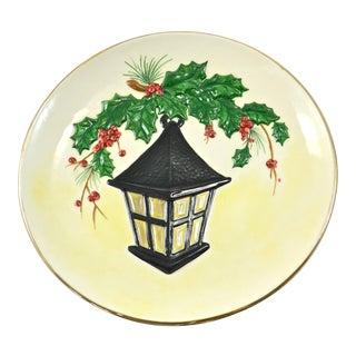 Mid-Century Holiday Lantern Plate