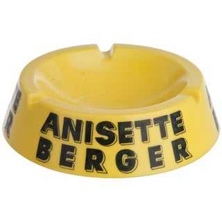 Vintage French Yellow Anisette Berger Ashtray