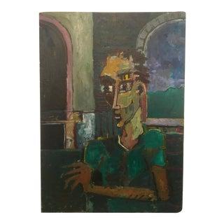 """Vintage Original Oil Painting, """"Homage"""""""