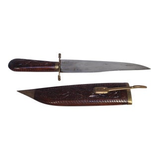 Carved Sheath and Knife