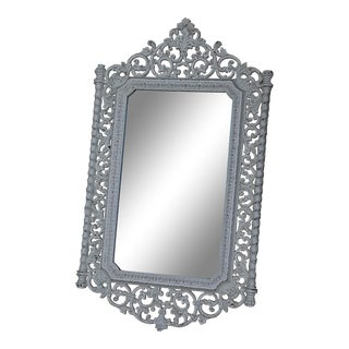 Vintage Ornate Cream Resin Mirror