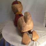Image of Vintage 1940s Wood Carved Carousel Character