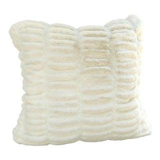 White Faux Fur Pillow