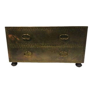 Sarreid Brass Studded Chest of Drawers