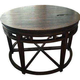 Anitique Chinese Chinois Demilune Tables - Pair