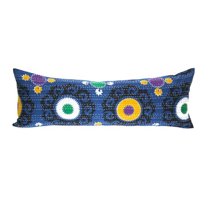 Blue Suzani Kantha Pillow - Image 1 of 2