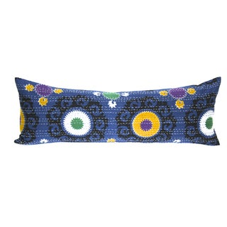 Blue Suzani Kantha Pillow