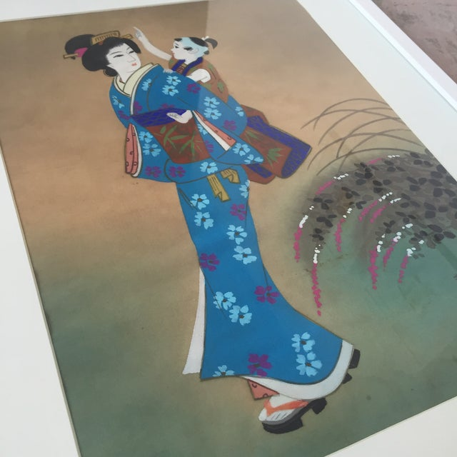 Japanese Hand Painted Silk - Image 3 of 11