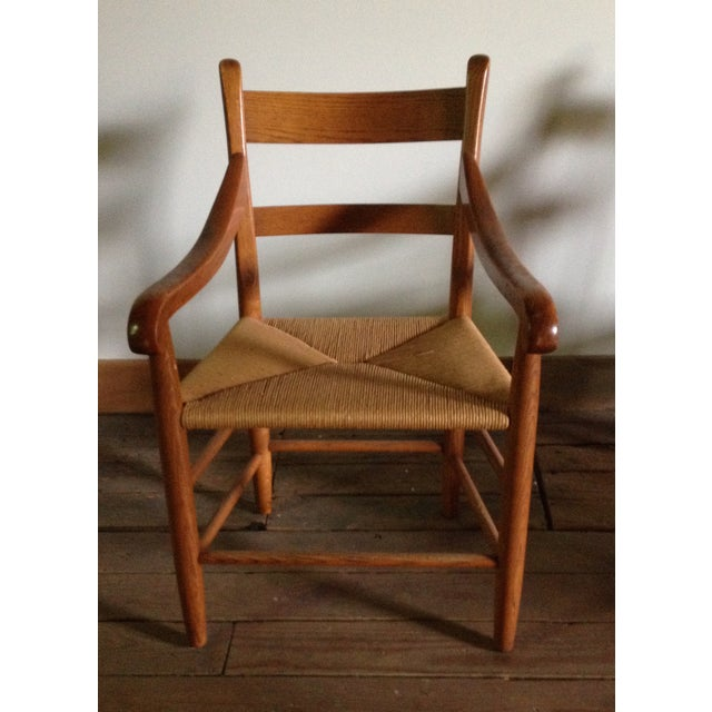 American Dining Chairs With Rush Seats - Set of 4 - Image 4 of 4