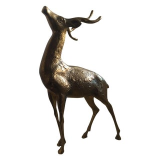 Majestic Brass Deer