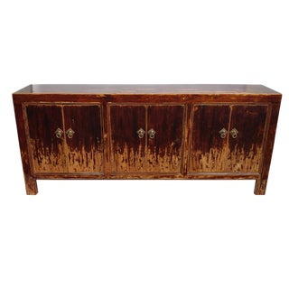 Traditional Shanxi Brown Distressed Sideboard