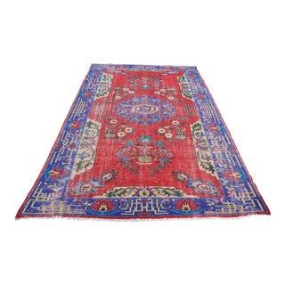 Turkish Oushak Floor Rug - 6′2″ × 9′11″