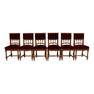1880s Henry II-Style Dining Chairs, S/6