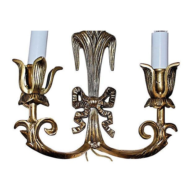 Brass Wheat Sconces- A Pair - Image 5 of 5