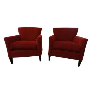 Room and Board Red Accent Chairs - A Pair