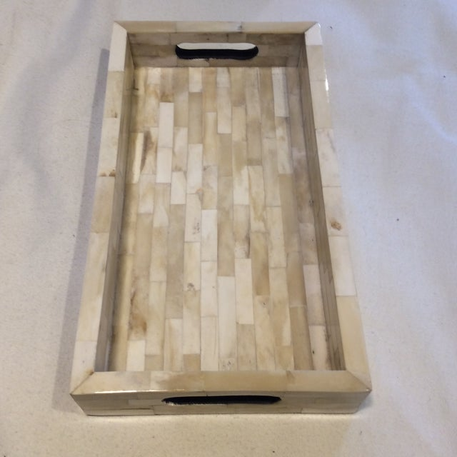 Natural Ivory Bone Serving Tray - Image 9 of 9