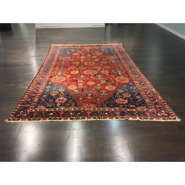 "Vintage Bellwether Rugs Persian Bactiari Area Rug - 6'9""x10'2"" - Image 2 of 11"