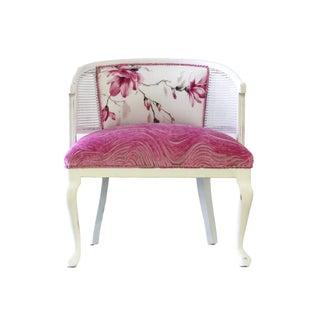 McKenna Mid-Century Cane Accent Chair