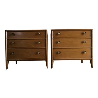 Vintage Mid Century Modern Nightstands by Mount Airy (a Pair)