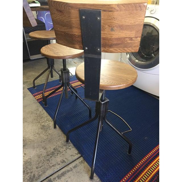 Rejuvenation Industrial Adjustable Stools - Set of 3 - Image 9 of 11