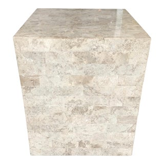 Tessellated Stone Pedestal or Accent Table